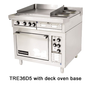 "Toastmaster TRE36C1M 2401 36"" Electric Range with (3) Hot Top, 240/1v"